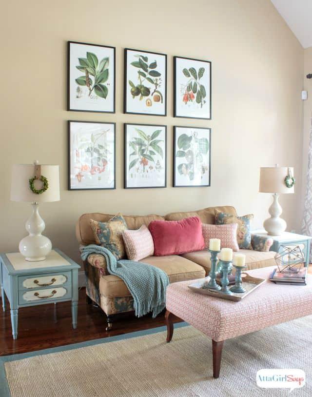 Vintage meets modern living room