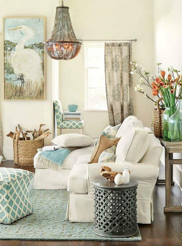 Using light colors in a small family room can give it a light and airy feel
