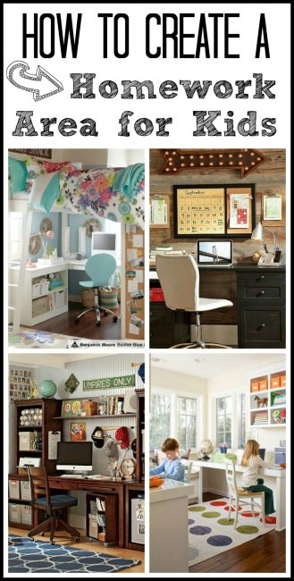 How to create a homework area for kids