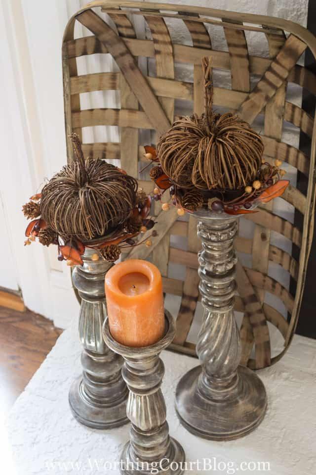 Fall candlesticks