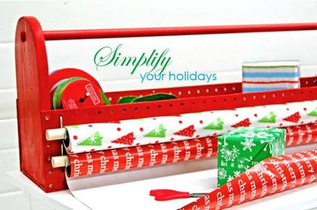 diy wrapping paper organizer tote