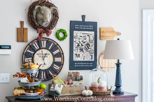 Adventures In Decorating Our 2015 Fall Kitchen: Fall Decor On My Kitchen Sideboard {And Some Changes To My