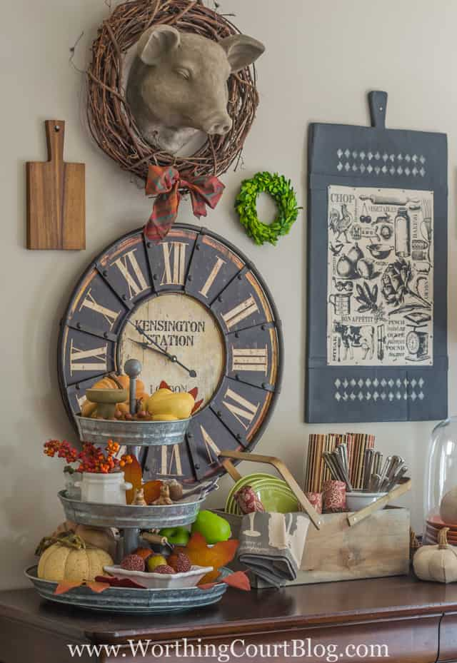 Fall on a kitchen sideboard
