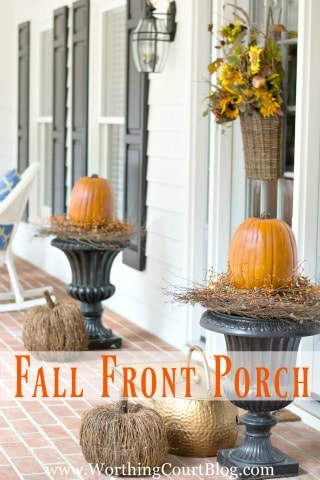 Easy and simple fall front porch - Worthing Court