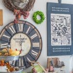 Fall Decor On My Kitchen Sideboard {And Some Changes To My Gallery Wall}