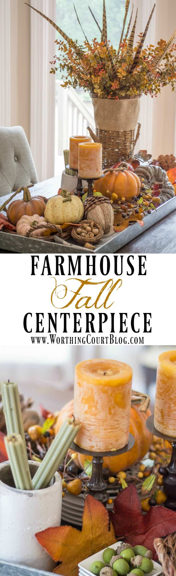 Farmhouse fall centerpiece - Worthing Court