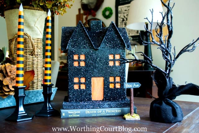 Get the Pottery Barn look for less with my diy Pottery Barn inspired Halloween house. Quick and easy!