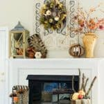 My Fall Mantel & Fireplace