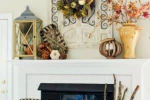 My Fall Mantel & Fireplace