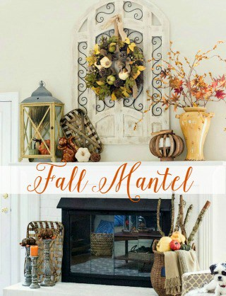 Fall Mantel With Farmhouse And Rustic Touches - Worthing Court