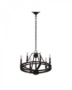Parrot Uncle - 6 Light Vintage Industrial Pendant