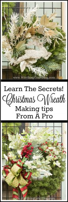 How To Decorate A Christmas Wreath - Directions From A Pro