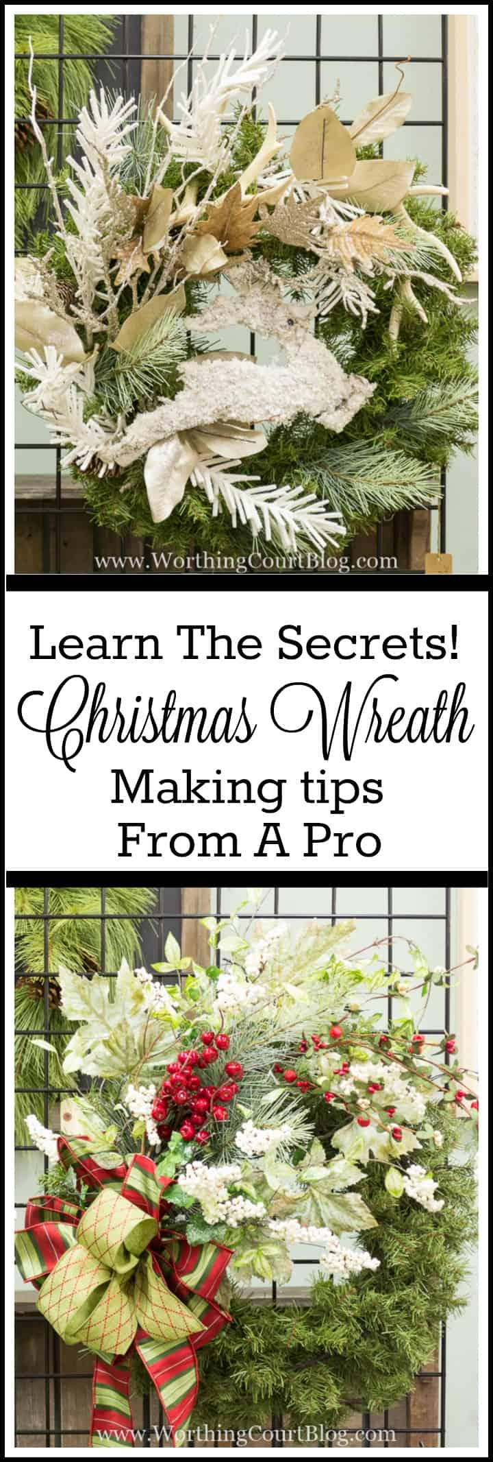 How To Decorate A Christmas Wreath - Directions From A Pro.
