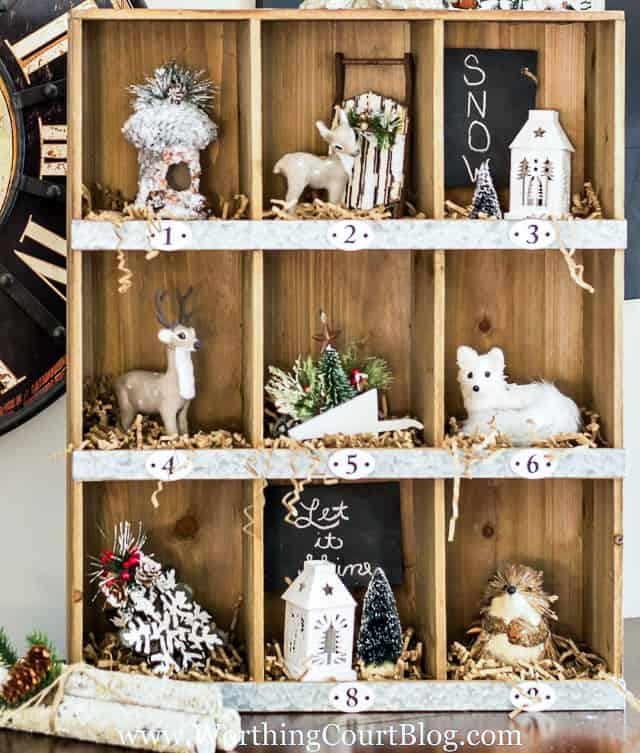 Rustic Farmhouse Christmas Cubbies