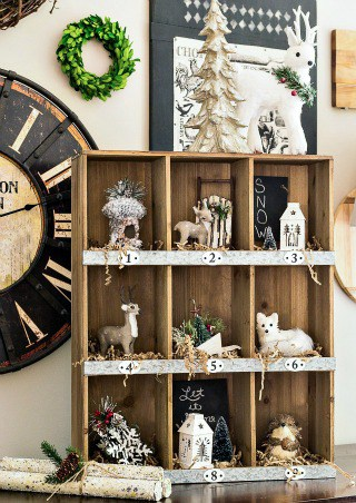 Rustic Christmas Cubbies