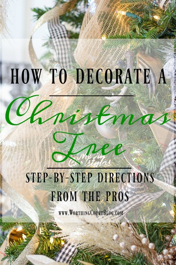 directions for how to decorate a christmas tree
