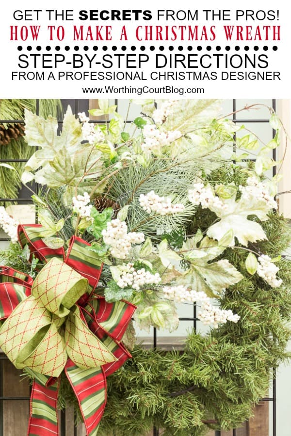 directions for how to make a Christmas wreath