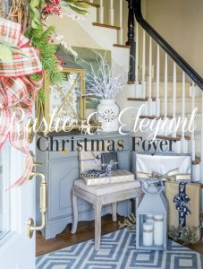 Rustic and Elegant Christmas Foyer.