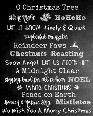 Free Chalkboard Christmas Printable