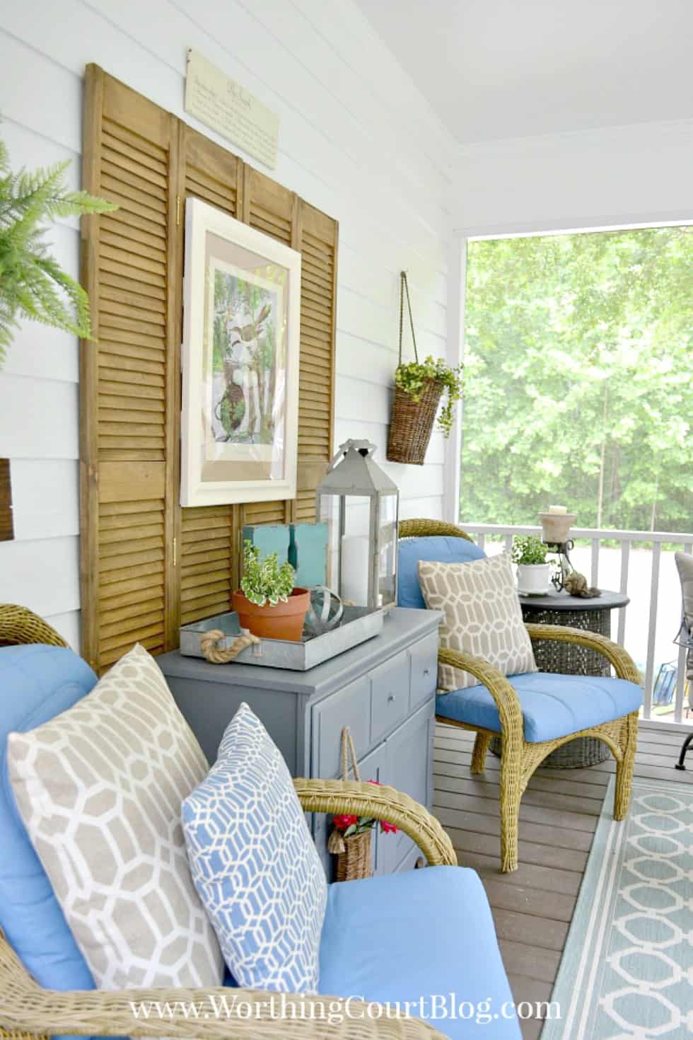 Southern Screen Porch Reveal - Before and After