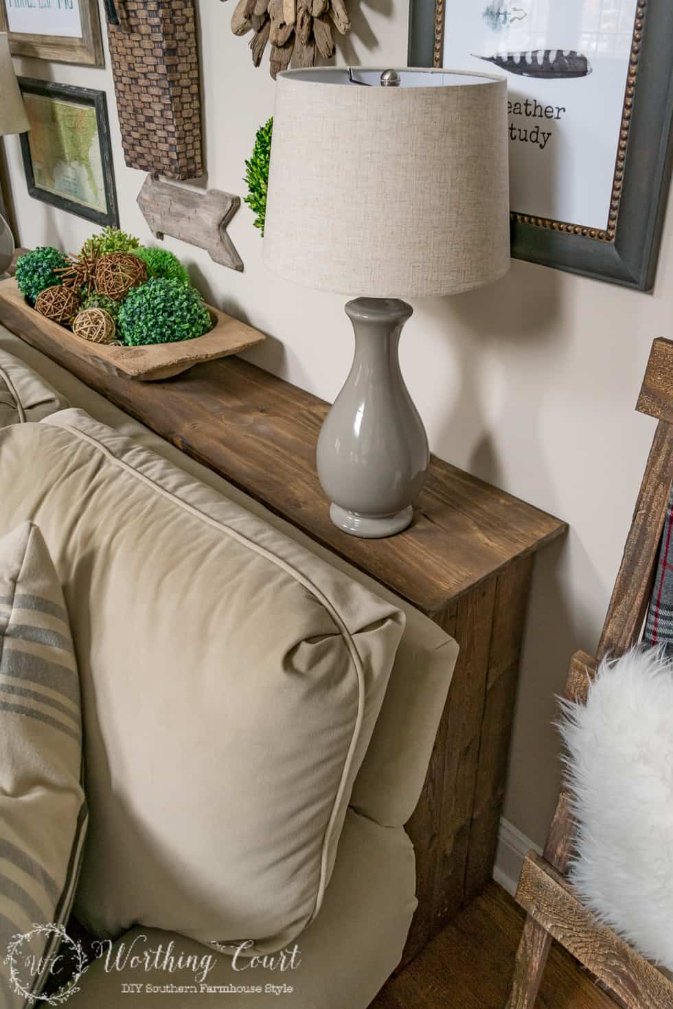 DIY Rustic Sofa Console Table