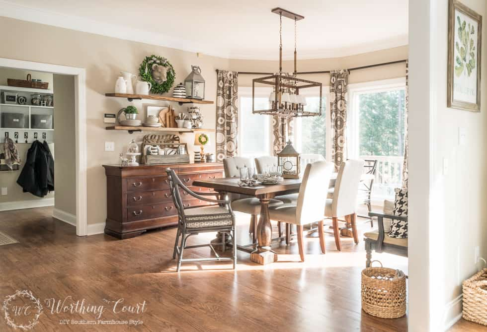 Breakfast Area Makeover Reveal - Before & After