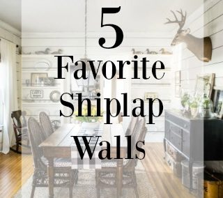 5 On Friday: Five Favorite Shiplap Walls