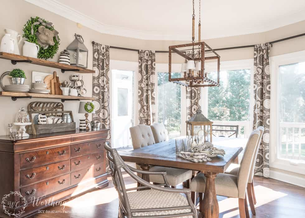 Breakfast Area Makeover Reveal Before After
