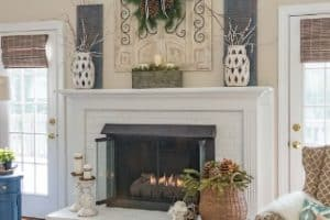 My Winter Fireplace Mantel And Hearth
