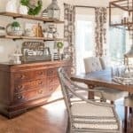 Rustic Farmhouse Breakfast Area Reveal – Before And After + A New Light Fixture