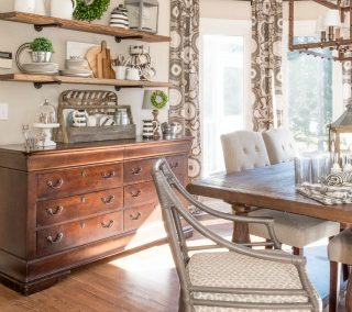 Rustic Farmhouse Breakfast Area Reveal – Before And After