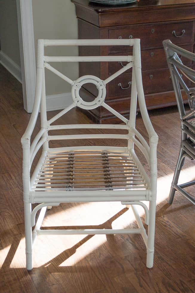 Rattan chair before makeover