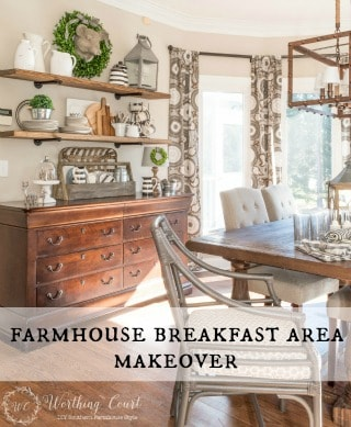 Farmhouse Breakfast Area Makeover