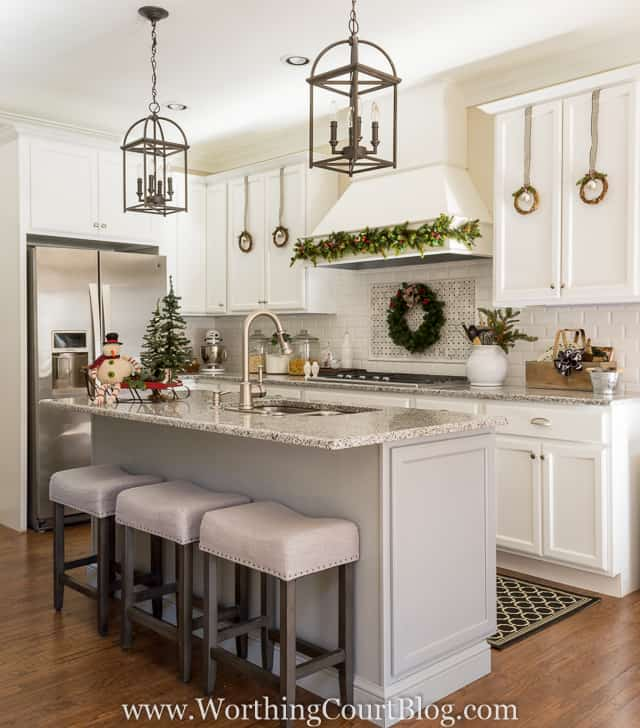 breakfast area lighting. Farmhouse Christmas Kitchen Breakfast Area Lighting G
