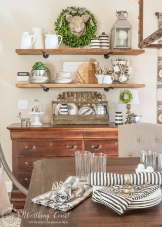 Rustic Farmhouse Breakfast Area - Where To Get The Look