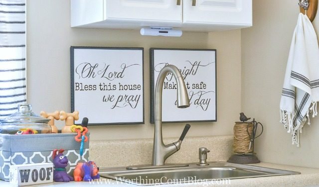 "Free ""Bless This House"" printables available in two sizes"