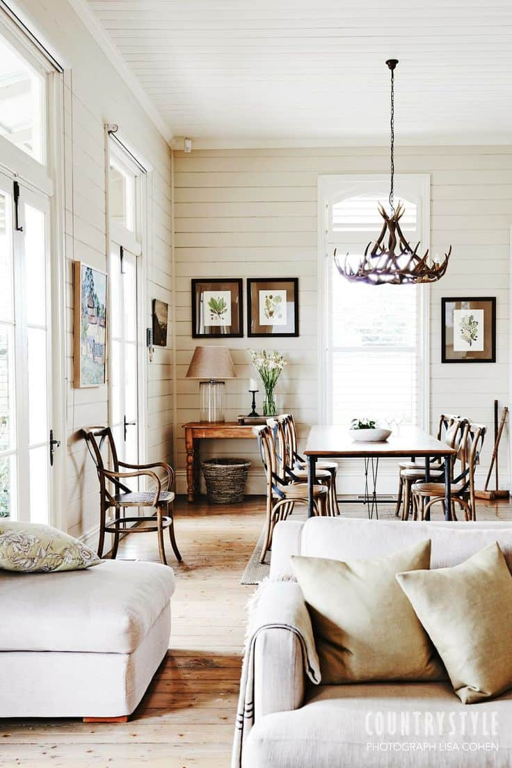 5 on friday five favorite shiplap walls worthing court - Timelessly beautiful country dining room furniture ideas for you ...