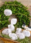 Stamped Dropcloth Easter Ornaments