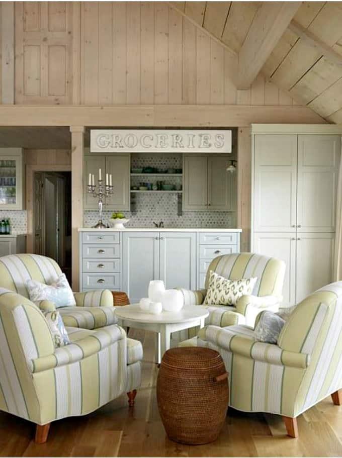 Cottage style lounge area. Iconic Farmhouse Cottage Living   Sarah Richardson Style