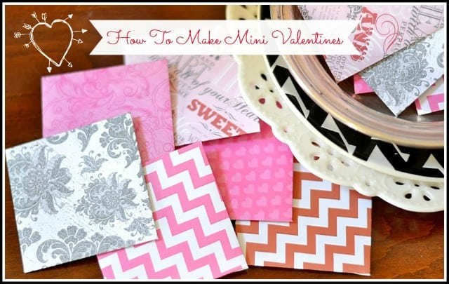 How To Make Mini Valentine's Day Cards.