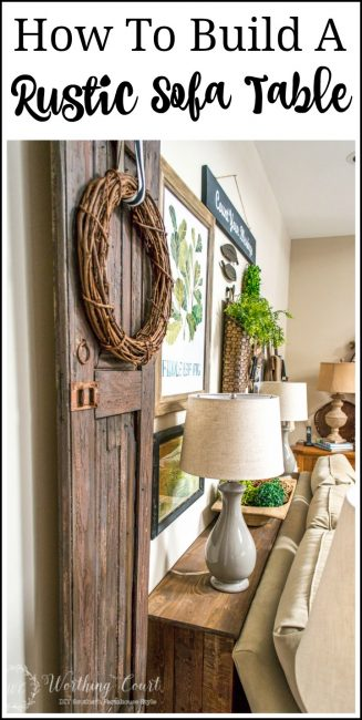 How To Build A Rustic Sofa Console Table poster.