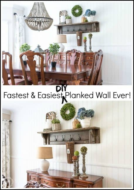 This is the fastest and easiest planked wall ever!