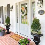 Farmhouse Front Entry And Easy Planters