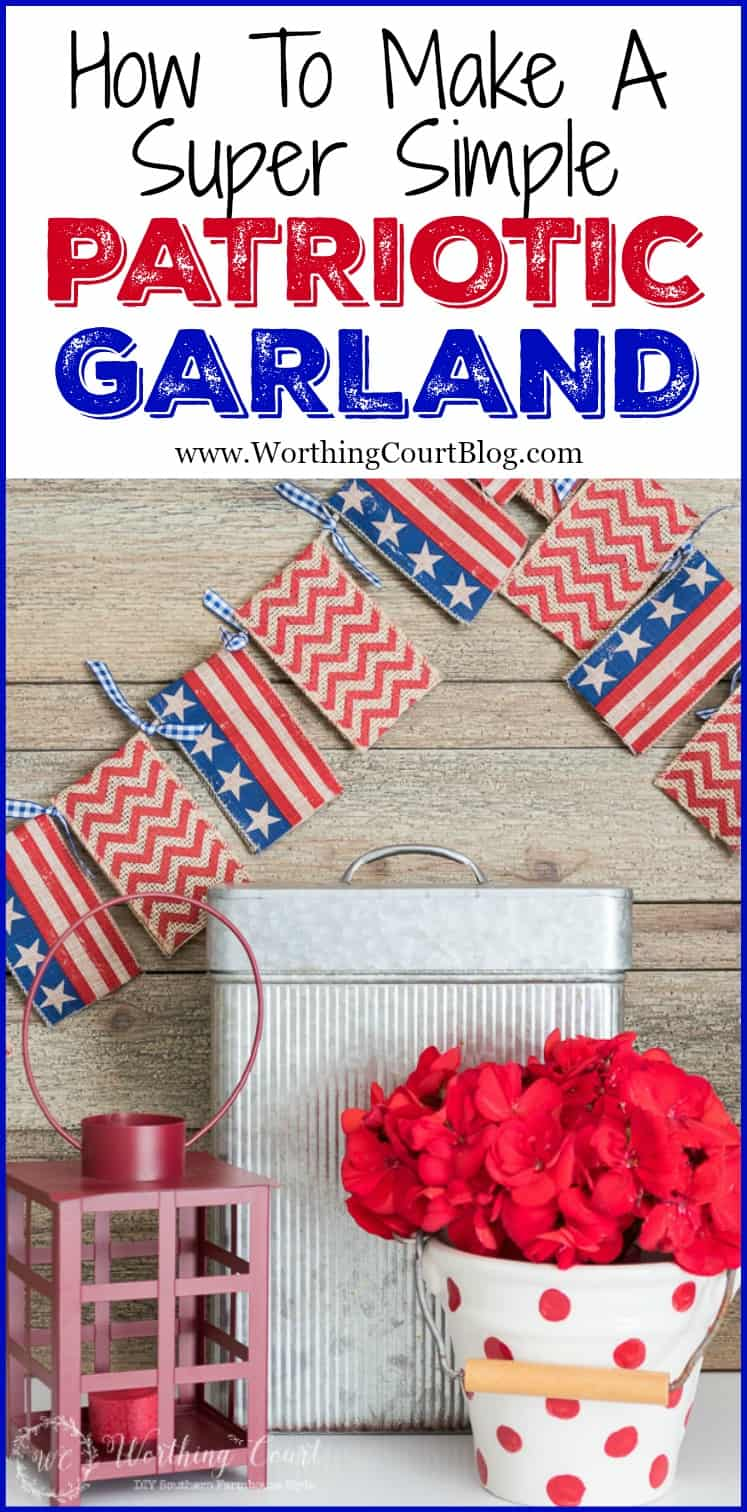 How to make a super quick and easy garland banner for any season, occasion or holiday. No sewing or template cutting required!
