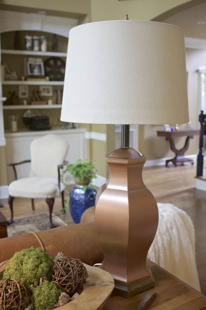 From brass to copper diy lamp makeover