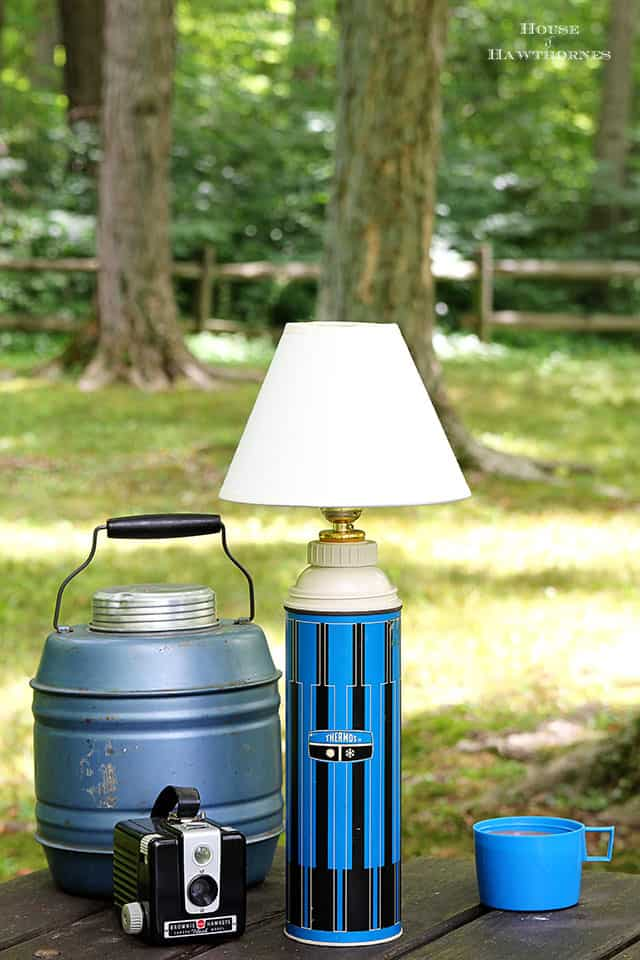 Turn a vintage thermos into an adorable lamp