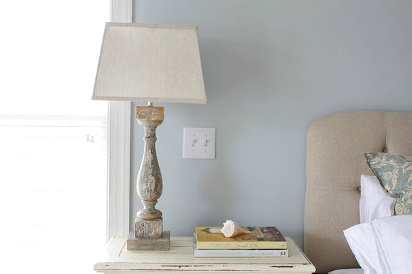 How to create a lamp from an old porch balustrade