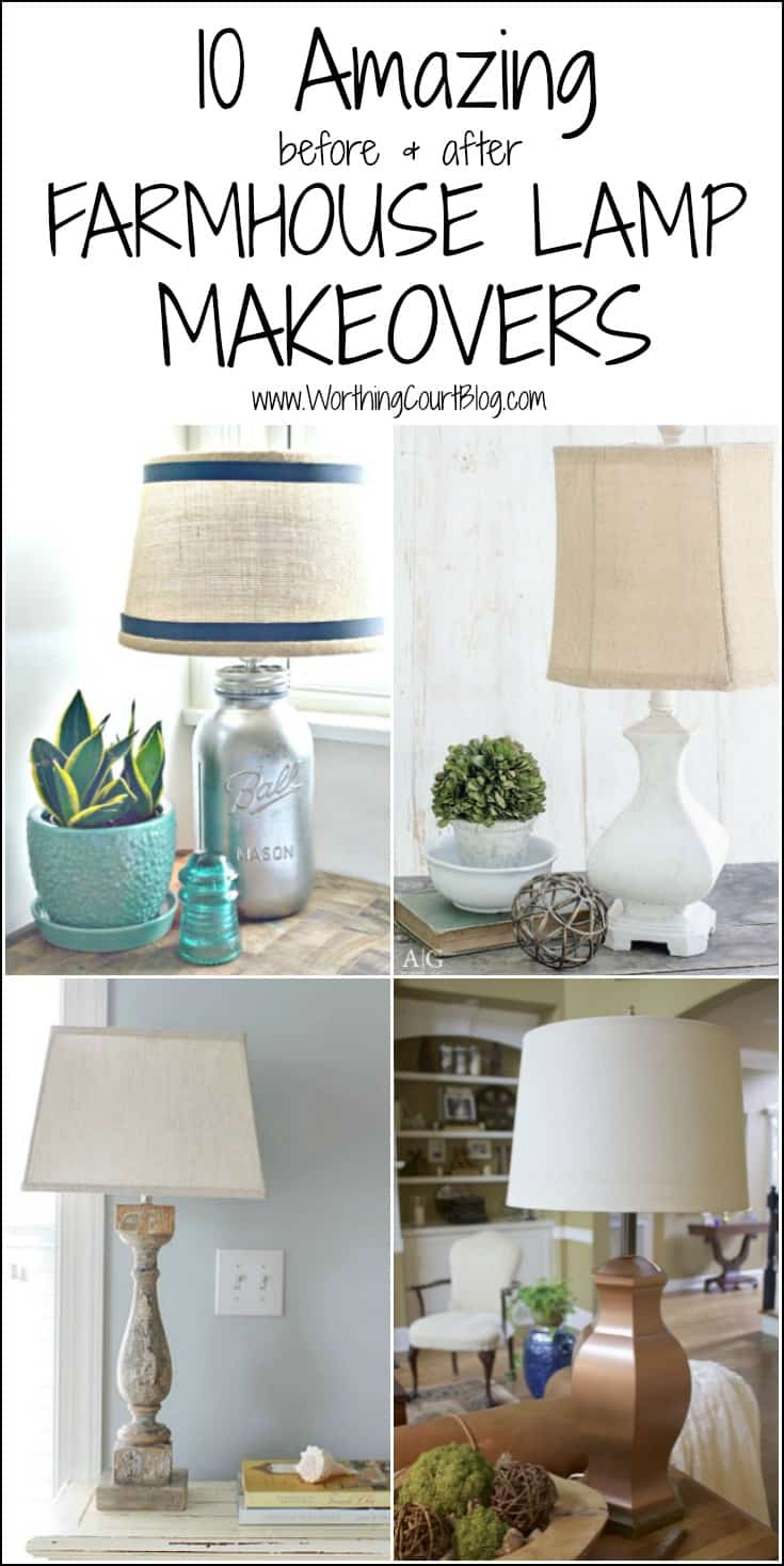 Don't stash those old lamps away just because they don't fit your current style. Here are 10 inspiring makeover ideas!