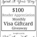 April Recap + $100 Visa Giftcard Giveaway