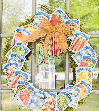 How To Make An Adorable Seed Packet Garden Themed Wreath